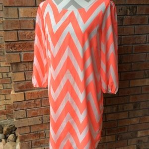Chevron mini dress